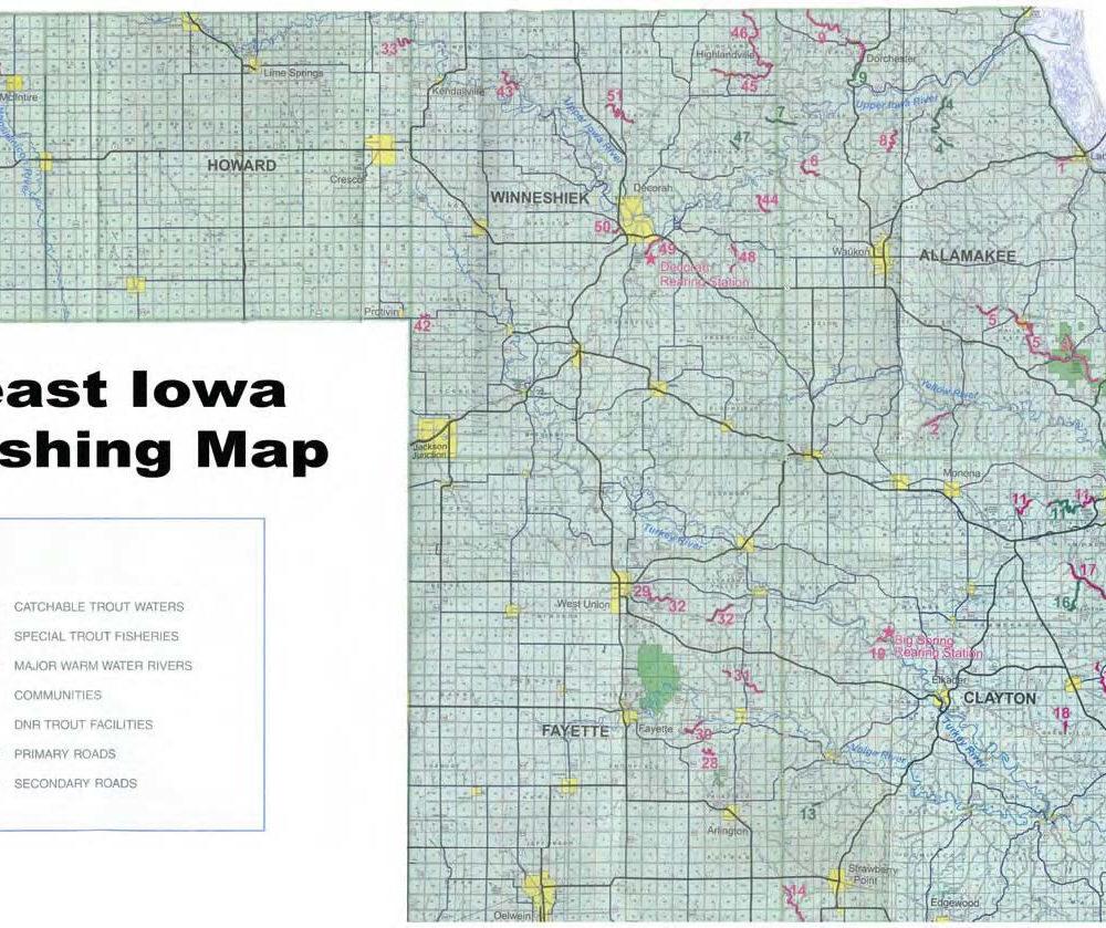 iowa trout streams map Iowa Trout Fishing iowa trout streams map
