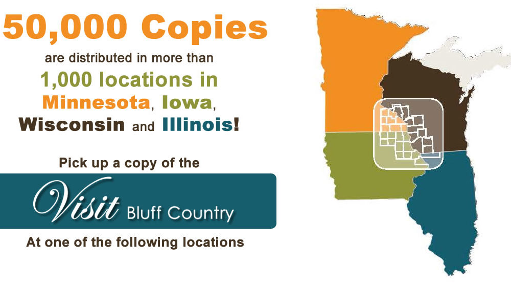 Visit Bluff Country Distribution