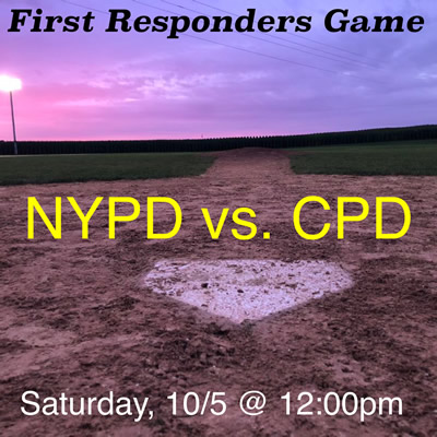 First Responders Game at the Field of Dreams Movie Site
