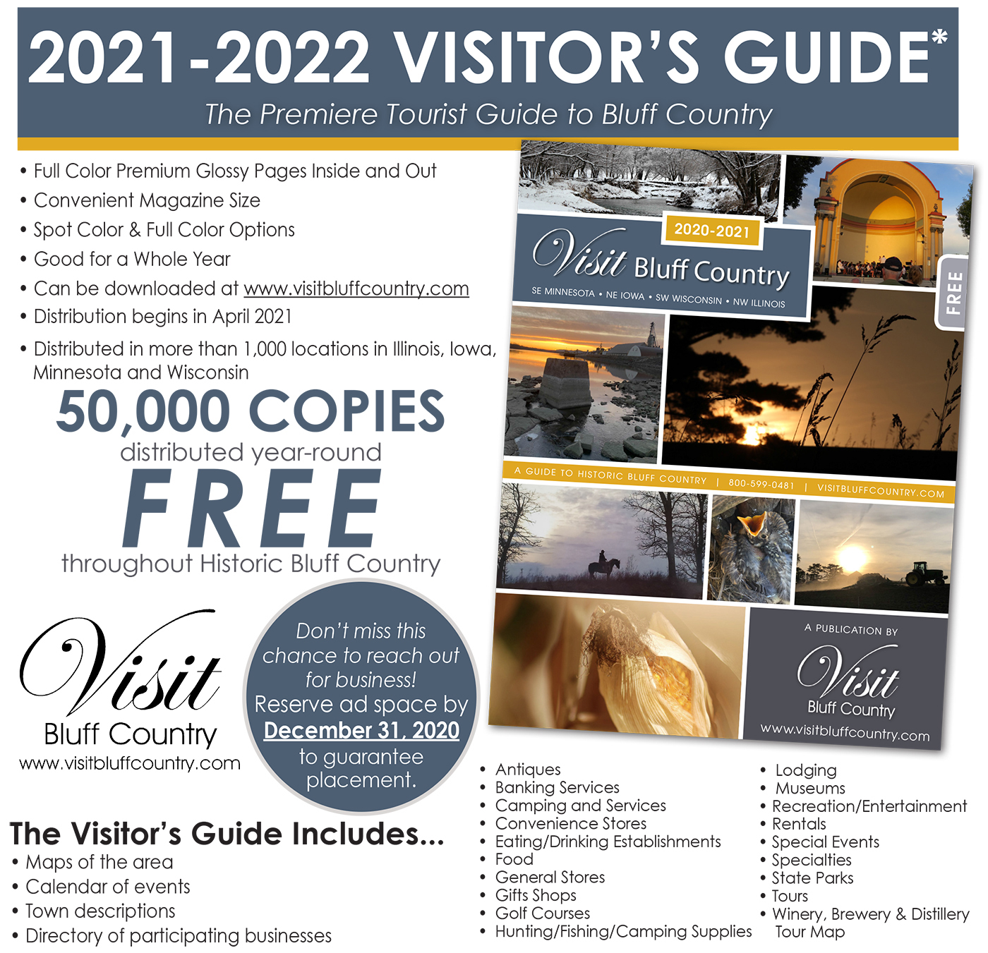 Visit Bluff Country Magazine - Advertise in 2021