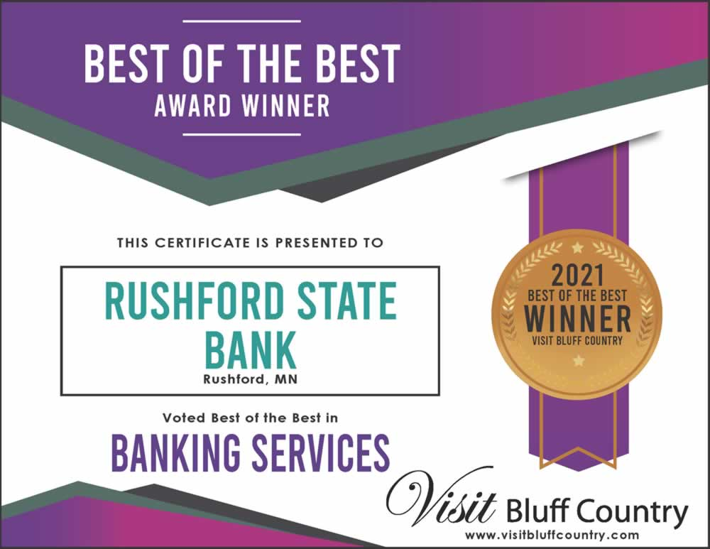 The best Bank in Bluff Country