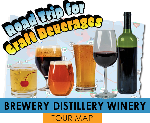 Winery Brewery Distillery Tour Map in Bluff Country Minnesota Iowa and Wisconsin