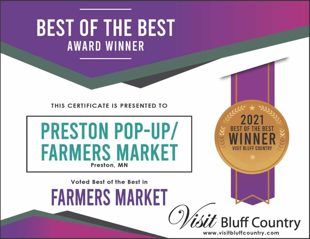 The Best Farmers Market in Bluff Country in Preston MN