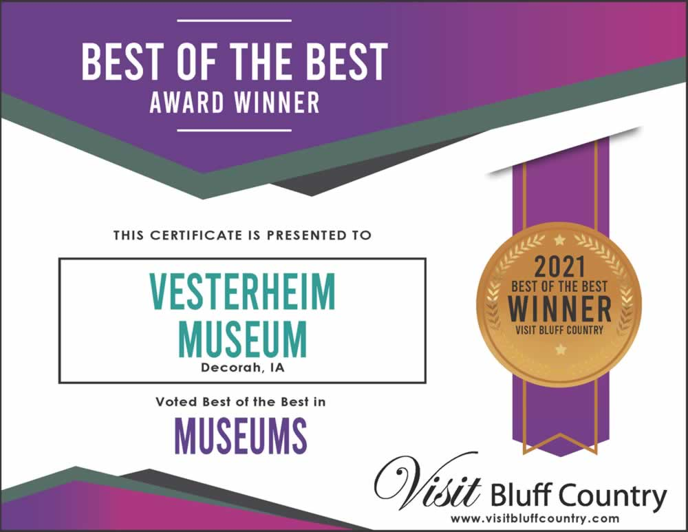 The best museum in Bluff Country at Vesterheim Museum in Decorah, IA