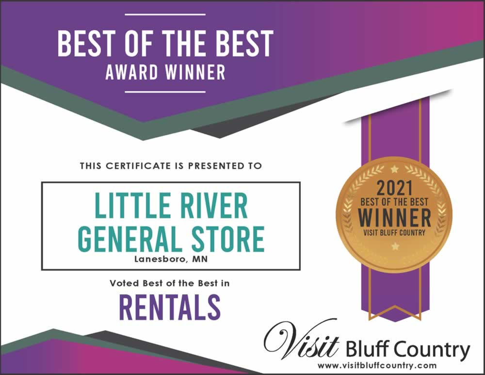 The best place to rent bikes in Bluff Country is the Little River General Store in Lanesboro, MN