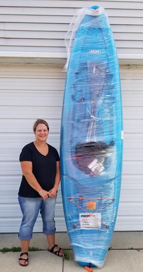 Third kayak winner of the summer
